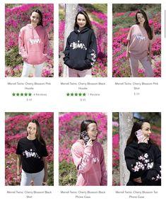 Famous Twins, Merrell Twins, Tan Shirt, Hoodies, Sweatshirts, Cherry Blossom, Graphic Sweatshirt, Sweaters, Pink