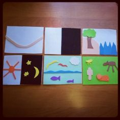 Great example of a Godly Play DIY creation story cards. Conversation on ChristianMontessoriNetwork.com