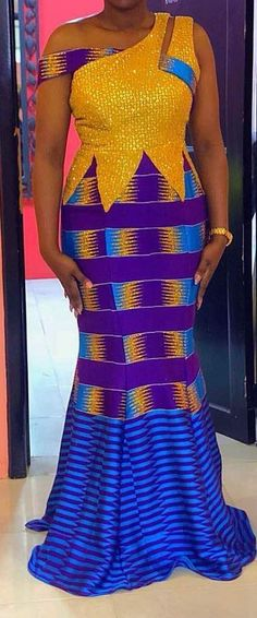simple colored patterned ankara styles