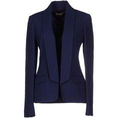 Michael Kors Blazer ($1,040) ❤ liked on Polyvore featuring outerwear, jackets, blazers, dark blue, flap jacket, blazer jacket, michael kors, collar jacket и michael kors blazer