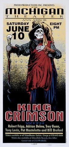king crimson concert poster - Google Search