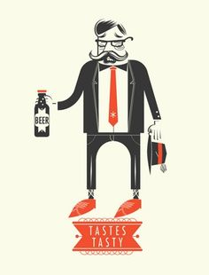 tastes tasty #graphic #illustration #beer