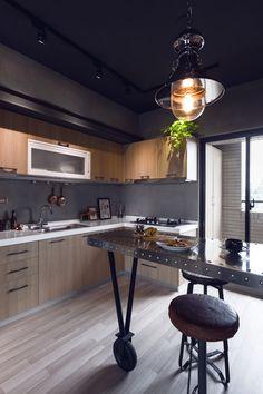 Apartamento com decoração estilo urbano/industrial