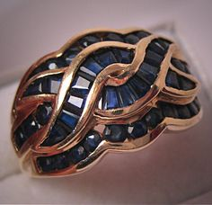 Vintage Sapphire Ring - I actually have one similar to this..so pretty.