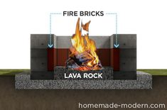 How to Build A Modern Firepit - DIY - iCreatived