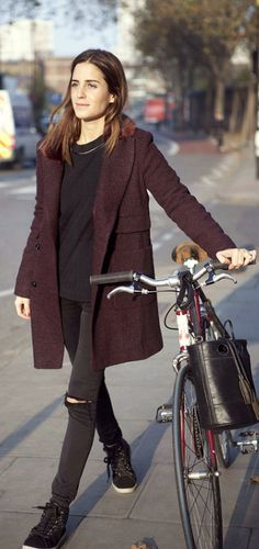 the jacket, the pants, the runners, the bike... perfect for fall <3