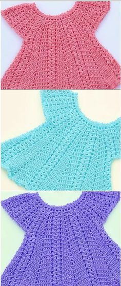 Fast And Easy Baby Dress Hi crochet lovers around the world! Today we have discovered very beautiful fast and easy baby dress video tutorial just. Girl Dress Patterns, Baby Patterns, Clothing Patterns, Sweater Patterns, Baby Girl Crochet, Crochet Baby Clothes, Crochet Baby Dresses, Crochet Toddler Dress, Girls Sweaters