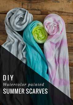 Watercolor Painted DIY Summer Scarf | http://hellonatural.co/diy-summer-scarf/