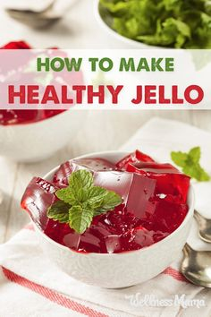 This healthy Jello recipe is made with grass fed gelatin and no added sugar or artificial ingredients for a healthy treat.