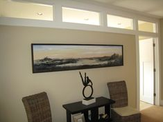 Transom for lighting a windowless room.