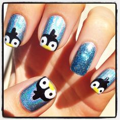 penguin  #nail #nails #nailart