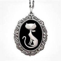 Retro Kitty Necklace, $29, now featured on Fab.