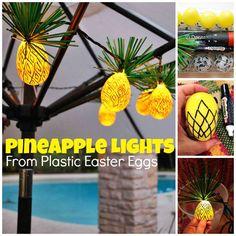 Easter Egg Pineapple Lights