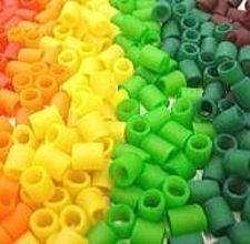 Colorful pasta beads