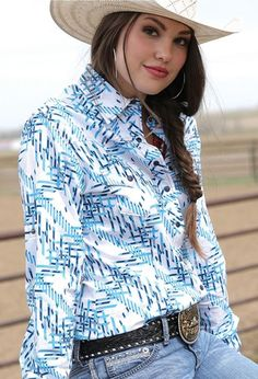 $39! CRUEL GIRL RODEO Western Barrel ARENA Performance Aztec SHIRT COWGIRL NWT MEDIUM #CruelGirl #Western