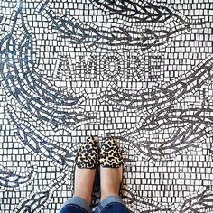 Selfeet on a mosaic floor by Ciot Studio. Selfies, Sloped Garden, Leopard Print Flats, Floor Ceiling, Modern Farmhouse Style, Font Styles, Tile Patterns, Life Is Beautiful, Pattern Design
