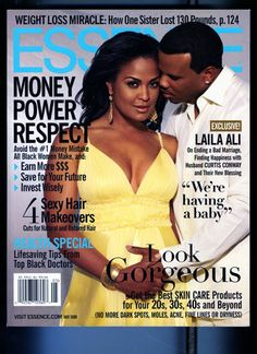 Black Love on ESSENCE Covers Through the Years; Laila Ali and Curtis Conway Boxer Laila Ali and her hubby Curtis Conway made an appearance on the cover of the 2008 May issue of ESSENCE magazine.