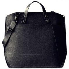 Felt & Leather Laptop Travel Bag