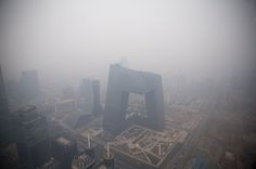 As Pollution Worsens in China, Solutions Succumb to Infighting - NYTimes.com Smog veiled the China Central Television Building in Beijing last week. Air pollution hit record levels in north China last month. By EDWARD WONG March 21, 2013