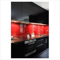Black And Red Kitchen I Might Just Have To Do This