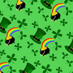 St Patricks Day Gold fabric by flamincatdesigns on Spoonflower - custom fabric  - background prints a little darker on the basic cotton fabric.