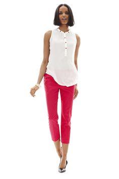 worthing embellished top and slim-line crop pants