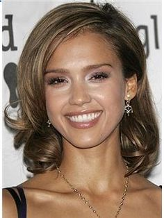 Lace Front 2015 New Short Wavy Sepia Mysterious Indian Remy Hair Wigs