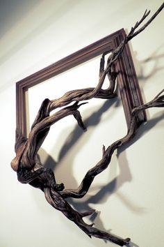 bilderrahmenselber machen treibholz kreative bastelidee wandgestaltung wanddeko naturholz