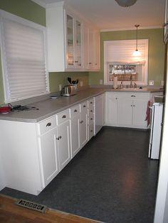 great marmoleum kitchen floor #5 - kitchens with marmoleum