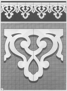 Canterbury Crest Décor Stencils - by Stampin' Up! Stencil Patterns, Stencil Designs, Border Design, Pattern Design, Thermocol Craft, Wood Projects, Woodworking Projects, Scroll Saw Patterns, Metal Wall Decor