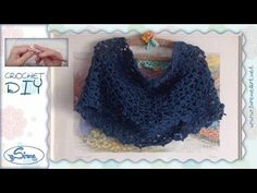 Tutorial Uncinetto ❀ Sciarpa circolare a triangolini ❀ [Circle little triangles Scarf] - YouTube