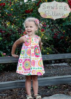 Harper Reversible Dress (Sizes 6/12 months to 6) Sewing E-Pattern and Tutorial. $6.00, via Etsy.
