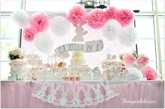 """This is one of my favorite """"Easter"""" parties to date. This Bunny party was created for a birthday, but with all the bunnies here, it could easily be a party for Easter. Everything that…"""