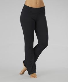 Another great find on #zulily! Black Straight Yoga Pants - Women by Balance Collection #zulilyfinds