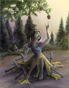 Zombie Princess Snow White - by Rob Carlos. Okay so, Rapunzel is a zombie hunter. Zombie Disney, Disney Princess Zombie, Princesas Disney Zombie, Disney Horror, Horror Art, Zombie Cartoon, Disney E Dreamworks, Disney Pixar, Emo Disney