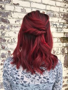 Joico red hair with redken shades cream root smudge by Amy Ziegler - Red Ombre Hair, Dyed Red Hair, Dye My Hair, Red Hair Color, Red Hair Inspo, Red Hair Inspiration, Red Hair Dark Roots, Manicure Y Pedicure, Haircuts For Long Hair