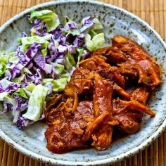 Kalyn's Kitchen®: Slow Cooker Recipe for Pulled Pork with Low-Sugar Barbecue Sauce  [#SouthBeachDiet Phase One if you omit small amount of brown sugar and use sweetener]