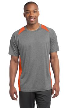 40643141f5e Sport Tek Heather Colorblock Contender Tee color at the neck and sides with  exceptional breathability