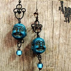 laughing buddah earrings
