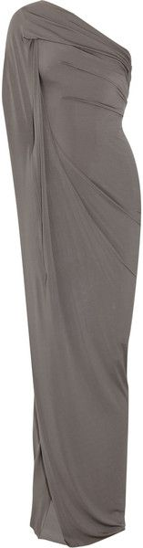 Donna Karan New York Draped Stretch Crepejersey Gown