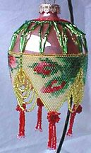 A Time For Roses - Laura Rye-Garcia = beaded ornament cover decoration