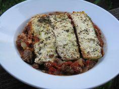 Fresh, three-layer lasagna