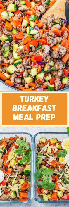 Clean Breakfast, Breakfast Recipes, Breakfast Ideas, Clean Eating Recipes, Healthy Recipes, Free Recipes, Food Crush, Turkey Dishes, Meal Prep Containers
