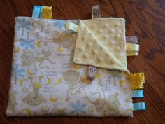 Monkey Business Ribbon Blanket by BlanketsbySheryl on Etsy, $15.00
