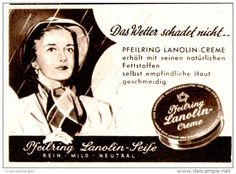 Original-Werbung/ Anzeige 1954 - PFEILRING LANOLIN CREME / SEIFE  - ca. 60 x 40 mm