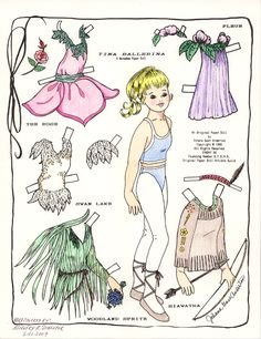 Vintage Paper Dolls   the artist was johana gast anderton