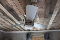 Freight Pallet wood ceiling.