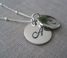 Items similar to Script initial necklace, sturdy sterling silver initial disc charm, cursive initial necklace on Etsy Love Images With Name, Love Heart Images, Love Pictures, Profile Pictures, Sister Gifts, Mother Day Gifts, Love Wallpapers Romantic, Stylish Letters, Stylish Alphabets
