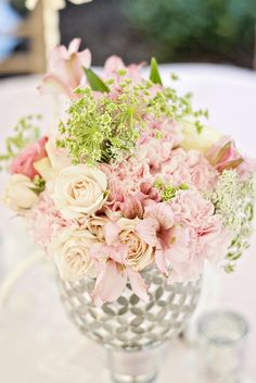 blush and neutral wedding table decor - Google Search