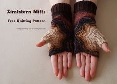 Knitting and so on: Zimtstern Mitts